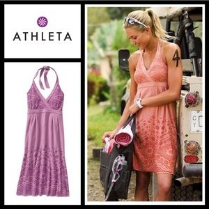 Athleta Balsa Burnout Halter Dress 🌸